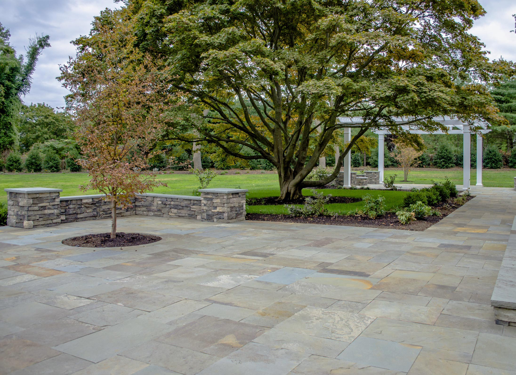 Bluestone Patio Design Idea.