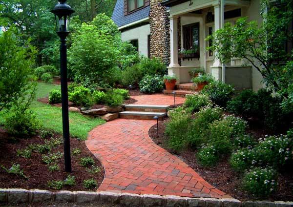 Charming Brick Walkway Design