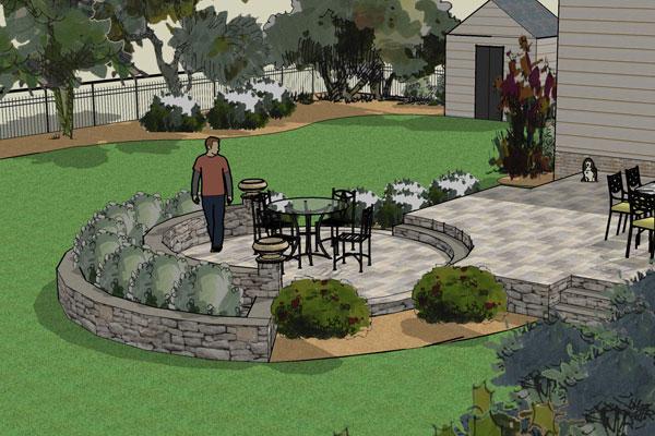 Circularr patio idea.