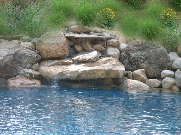 Pool with Waterfall
